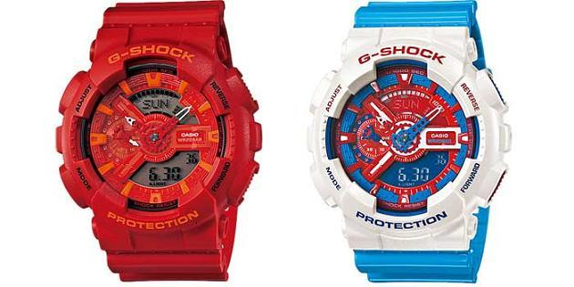 G-Shock GA-110AC-7A Blue and Red Series watch from Casio