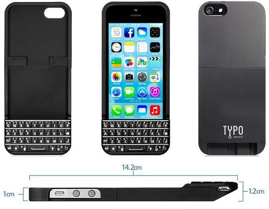 Typo Keyboard Case for Apple iPhone 5/5s first look 1