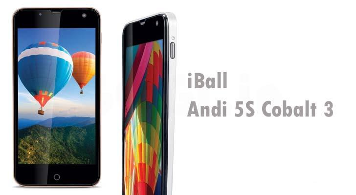 iBall Andi 5S Cobalt 3 Octa Core with 5 inch HD Display launched for under Rs.13K 1
