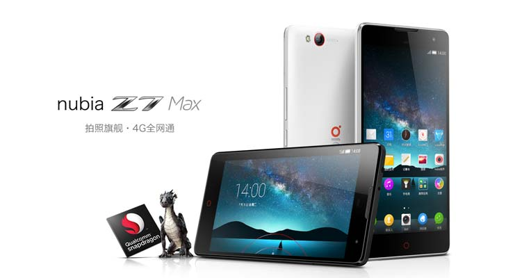 ZTE to launch Nubia Z7 Max with Snapdragon Processor in India