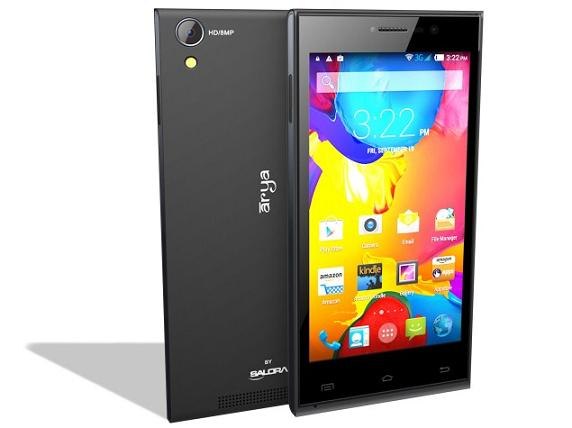 Salora Arya Z2 with 5-inch HD display Android Phone launched for Rs.6999