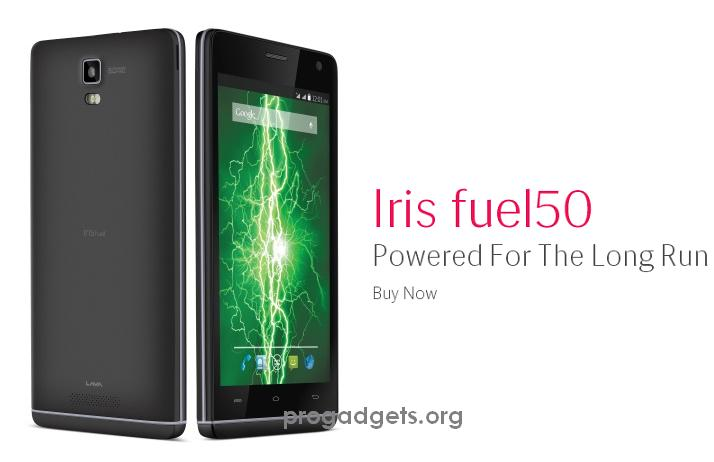 Lava Iris Fuel 50 quad core with Android smartphone launched for Rs.7799