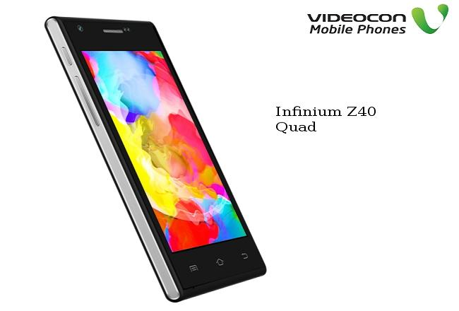 Videocon Infinium Z40 Quad With Android 4.4 KitKat Launched at Rs.5,490