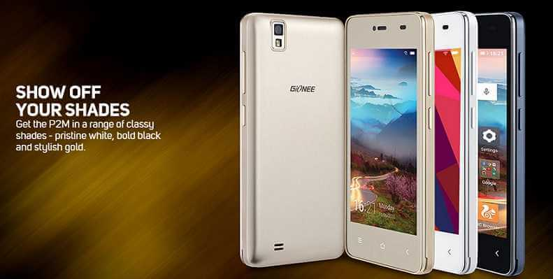 Gionee Pioneer P2M Launched with 3000mAh Price at Rs.6,999
