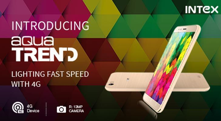 Intex Aqua Trend with 5-inch HD display Launched for Rs.9444